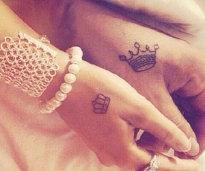 couple, Queen, and tatoo image