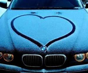 car, bmw, and heart image