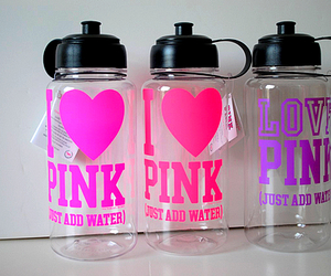 pink, water, and Victoria's Secret image