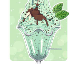 ice cream, anime, and chibi image