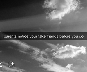 sad, parents, and fake friends image