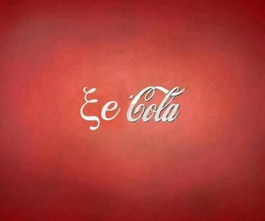 coca cola, ^^, and red image