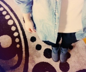 jean, tumblr, and timberland image