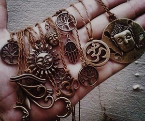 necklace, indie, and hipster image