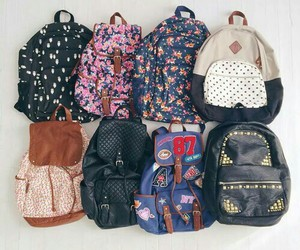 bag, backpack, and school image