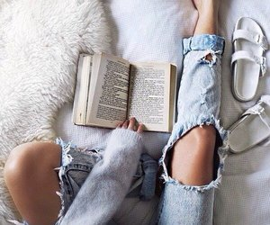 bed, denim, and style image