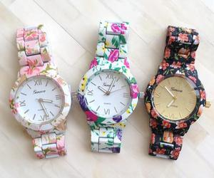 watch, flowers, and floral image
