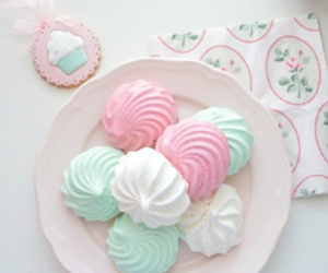 dessert, meringue, and pastel image