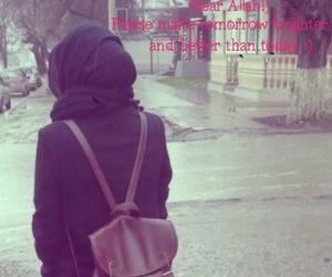 hijab, بنات, and حجاب image