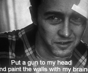 fight club, gun, and text image