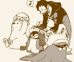 one piece, bepo, and penguin image