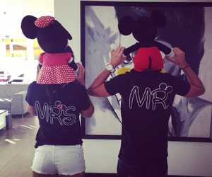 black, mickey and minnie, and cuteness overload image