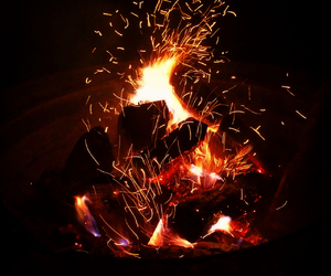 fire, sparks, and late nights image