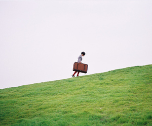 green and suitcase image