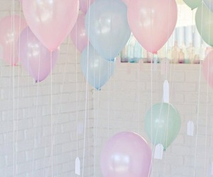 baloons, colors, and cute image