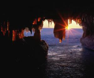 cave, nature, and sea image