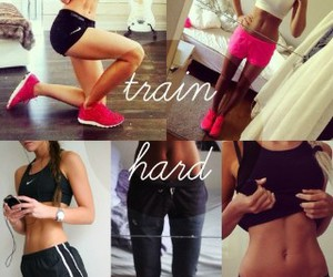 fitness, hard, and motivation image