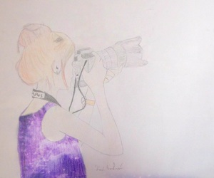 drawing and girl and camcorder image