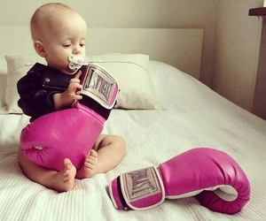 baby, box, and pink image
