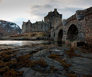 abandoned, castle, and river image