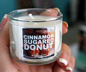 candle, donut, and luxury image