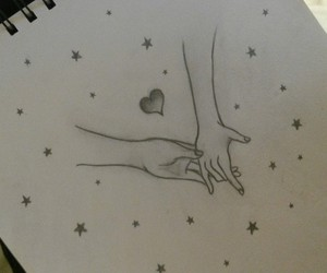 drawing, hands, and heart image