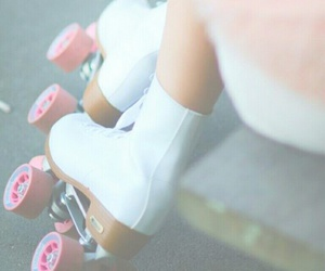 classy, rollerskates, and girl image