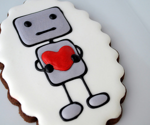 robot, cute, and Cookies image