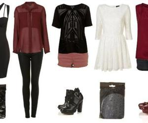 black, boots, and burgundy image