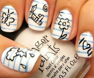 art, nails, and cool image
