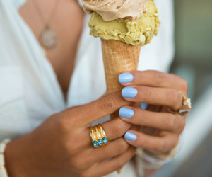 ice cream, nails, and food image