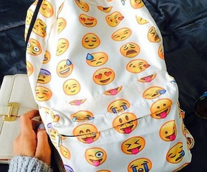 emoji, bag, and backpack image