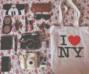 camera, bag, and new york image