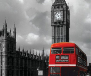 london, Big Ben, and red image