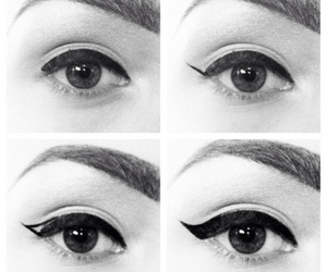 eyes, eyeliner, and make up image