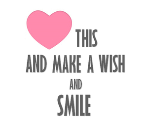 smile, wish, and heart image