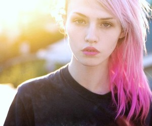 girl, pink hair, and charlotte free image