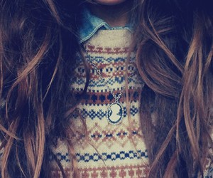 hair, sweater, and winter image