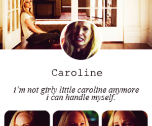 tvd and caroline forbes image