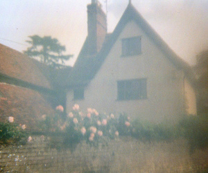 cottage, countryside, and flowers image