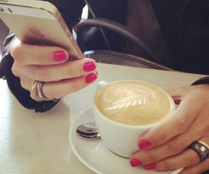 cafe, iphone, and anillo image