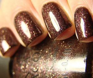 nails, glitter, and nail polish image
