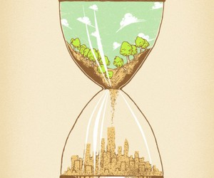 city, nature, and time image