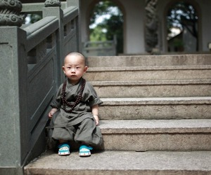 child, monk, and cute image