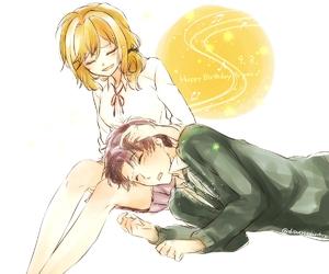 couple, anime, and girl image