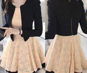 dress, outfit, and jacket image