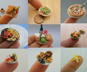 mini pizza, mini foods, and mini banana image