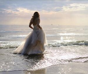 dress, sea, and beach image