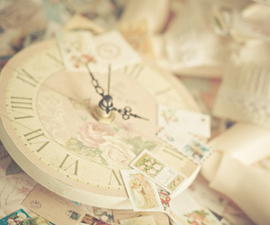 clock, vintage, and pastel image
