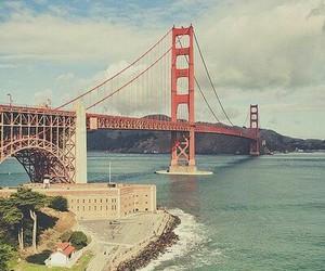 bridge, san francisco, and sea image